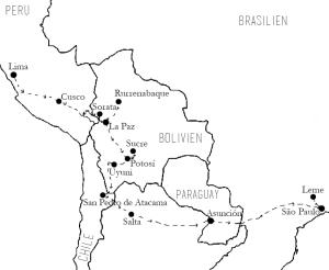 Zwischen den Zeilen reisen Reiseroute Südamerika